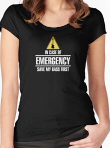 Save my bass(white) Women's Fitted Scoop T-Shirt