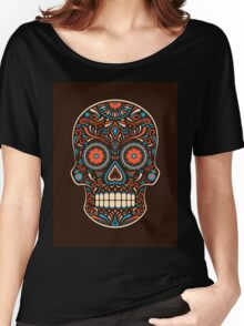 Colorful Sugar Skull Women's Relaxed Fit T-Shirt
