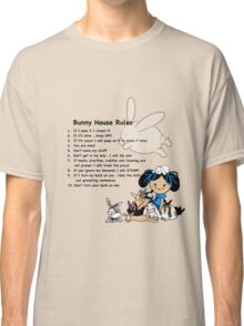 Bunny House Rules - Cartoon gift for Rabbit owners Classic T-Shirt