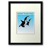 MOTHER AND CHILD WHITE - ORCA Framed Print