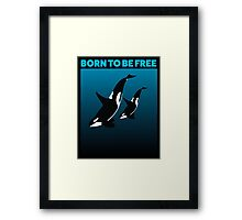 MOTHER AND CHILD BLACK - ORCA Framed Print
