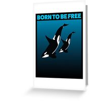 MOTHER AND CHILD BLACK - ORCA Greeting Card
