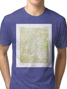 USGS TOPO Map Arkansas AR Melbourne 260192 1951 62500 Tri-blend T-Shirt