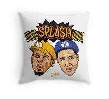 SUPER SPLASH BROS  Throw Pillow