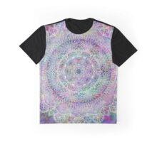 White Mandala on Pastel Purples Graphic T-Shirt