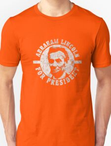 Old Abraham Lincoln Vintage Campaign Distressed T-Shirt Unisex T-Shirt