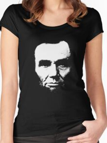 President Abraham Lincoln Portrait Vintage T-Shirt Women's Fitted Scoop T-Shirt