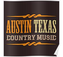 Austin Texas Country music Poster