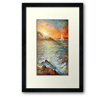 Sunset Over The Sea Framed Print