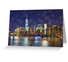 Leaving New York City Greeting Card