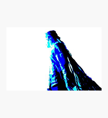 Damian Marley Blue Posterized 2 Photographic Print