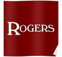 Rogers drums white Poster