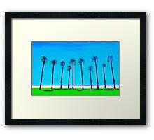 Venice Beach palms California USA Framed Print