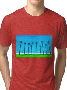 Venice Beach palms California USA Tri-blend T-Shirt