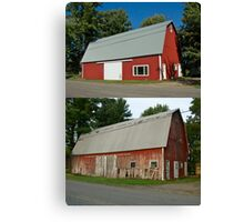 Barn Makeover Before & After Canvas Print