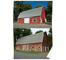 Barn Makeover Before & After Poster