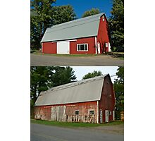 Barn Makeover Before & After Photographic Print