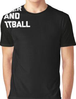 Beer & Football T-Shirt funny saying sarcastic novelty humor Graphic T-Shirt