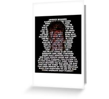Tribute to Bowie Greeting Card