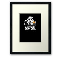 Mitesized Trooper Framed Print