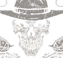 I'm Your Huckleberry Skull Gun Tee Shirt Sticker