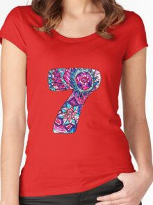 Number Seven Women's Fitted Scoop T-Shirt