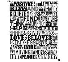 Random Funky Words Photographic Print