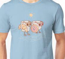 CUPS ON THE BEACH Unisex T-Shirt