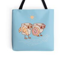 CUPS ON THE BEACH Tote Bag