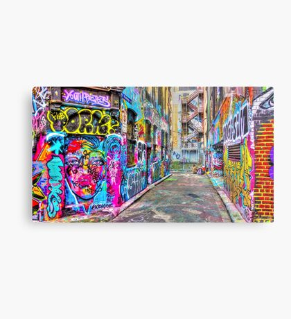 Hanging Out in the Colourful Rutledge Lane Metal Print