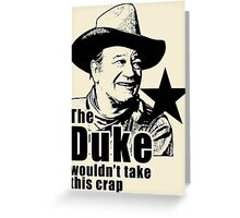 The Duke Searchers Red River Greeting Card
