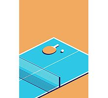 Table Tennis Isometric (Orange Cyan) Photographic Print