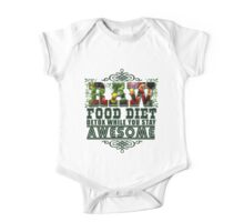 Raw Food Diet, Detox While You Stay Awesome One Piece - Short Sleeve