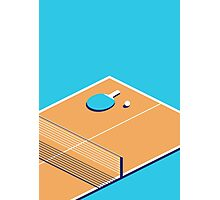 Table Tennis Isometric (Cyan Orange) Photographic Print