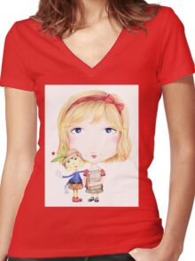 My Imaginary Friend Women's Fitted V-Neck T-Shirt