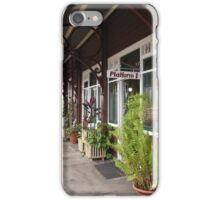 Railway Platform Historic Station at Gympie, Queensland. iPhone Case/Skin