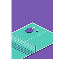 Table Tennis Isometric (Purple Green) Photographic Print