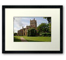 Twekesbury Abbey exterior Framed Print