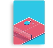 Table Tennis Isometric (Cyan Red) Canvas Print