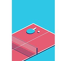 Table Tennis Isometric (Cyan Red) Photographic Print