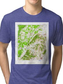 USGS TOPO Map Arkansas AR Rector 260271 1958 62500 Tri-blend T-Shirt