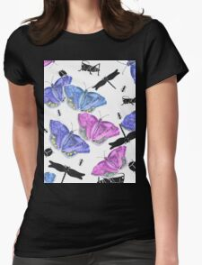 Beetles, bugs and butterflies Womens Fitted T-Shirt