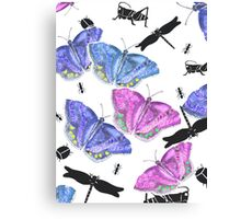 Beetles, bugs and butterflies Canvas Print