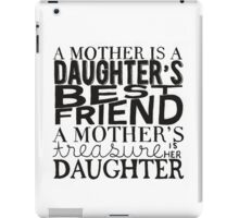 Mother & Daughter Typographic Quote iPad Case/Skin