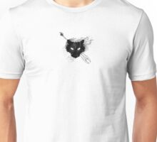 Cat Flamed Warrior Unisex T-Shirt