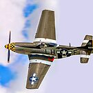 """P-51D Mustang 45-15118 G-MSTG """"Janie"""" banking by Colin Smedley"""