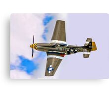"""P-51D Mustang 45-15118 G-MSTG """"Janie"""" banking Canvas Print"""