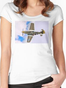 "P-51D Mustang 45-15118 G-MSTG ""Janie"" banking Women's Fitted Scoop T-Shirt"