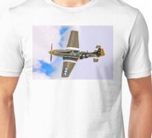 "P-51D Mustang 45-15118 G-MSTG ""Janie"" banking Unisex T-Shirt"