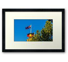 The Australian and Aboriginal Flags - Historic Town Hall, Bendigo Framed Print